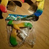 Игрушка птица балансирующая на клюве - фото из отзывов покупателей