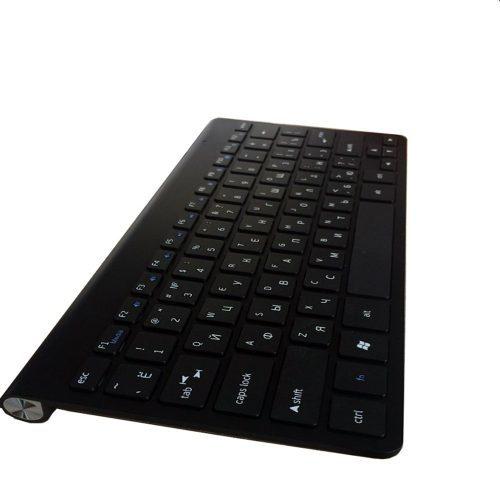Беспроводная тонкая slim клавиатура для компьютера и планшета с русской раскладкой