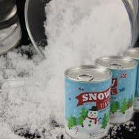 Искусственный снег в баночке растворимый порошок для декора и фотосессий