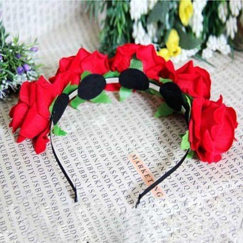 Красивый женский ободок-обруч для волос с цветами