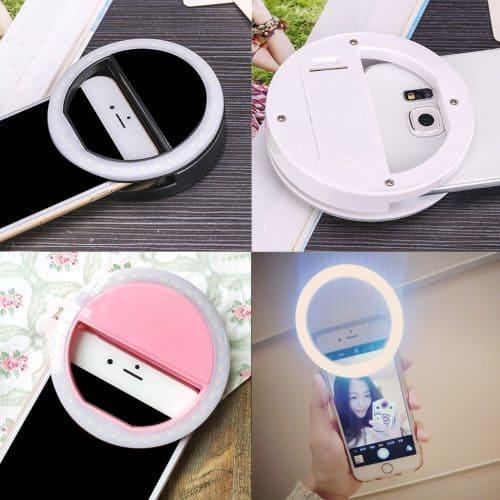 Круглая светодиодная лампа кольцо насадка на телефон для селфи