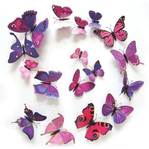 Объемные декоративные 3D бабочки на магните/скотче на стену и шторы