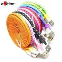 Цветной плоский USB кабель зарядки для iPhone (айфон) 5 5s 6 6Plus
