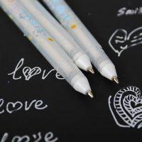 Гелевая ручка с белыми чернилами 0,8 мм (в наборе 4 шт.)
