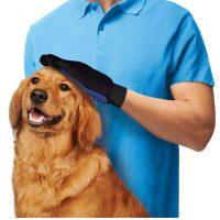 Перчатка для сбора, вычесывания, чистки и удаления шерсти домашних животных True Touch