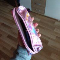 Голографический блестящий школьный пенал с зеркальной поверхностью металлик для карандашей - фото из отзывов покупателей