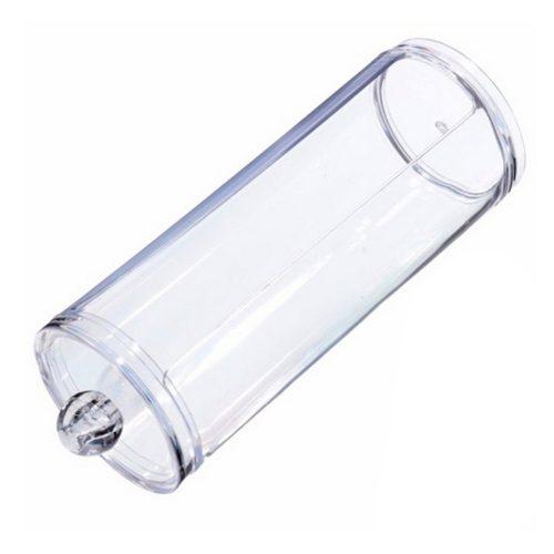 Акриловый контейнер-органайзер (диспенсер) для ватных дисков в форме цилиндра