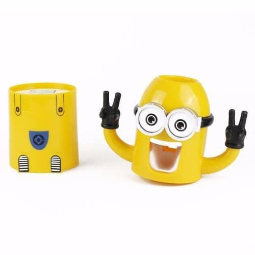 Автоматический детский дозатор для зубной пасты Миньон с держателем щеток
