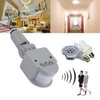 Автоматический инфракрасный датчик движения для включения света в квартире, в подъезде 220 вольт