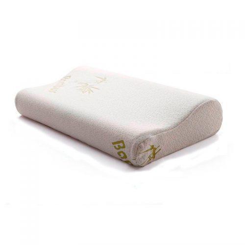 Бамбуковая ортопедическая подушка с эффектом памяти для шейного отдела позвоночника для сна