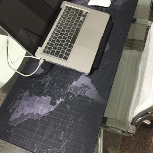 Большой игровой коврик на стол с картой мира для компьютерной мыши и клавиатуры