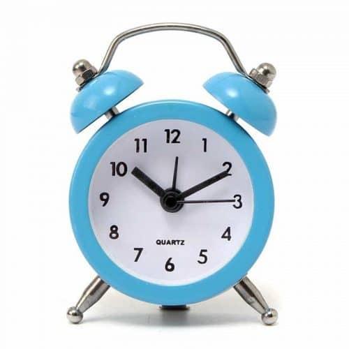 Будильник (часы) настольный кварцевый металлический на батарейках