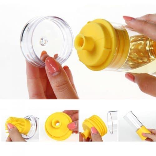 Бутылка для масла с кисточкой