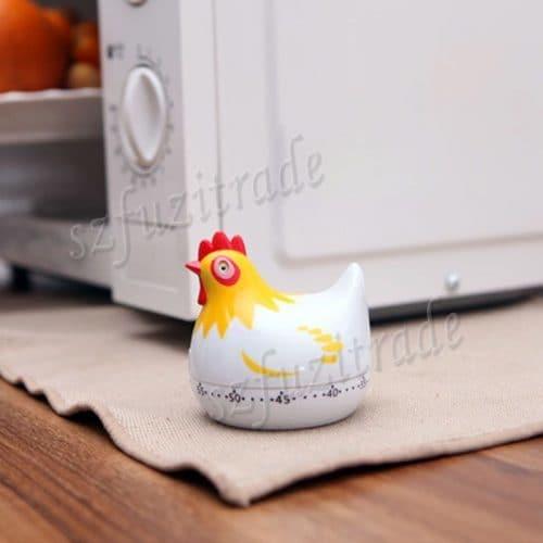 Бытовой кухонный механический таймер обратного отсчета в виде курицы