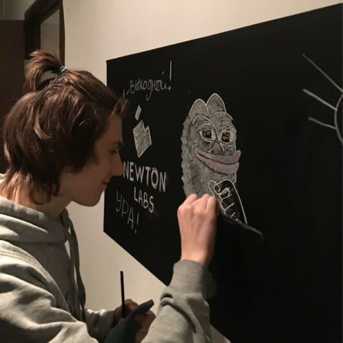 Черная меловая грифельная наклейка-пленка на стену для рисования