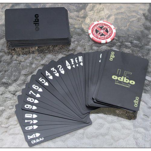 Черные пластиковые игральные карты водонепроницаемые 54 шт.