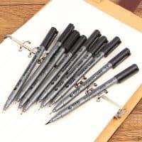 Черный линер-маркер (капиллярная ручка) для рисования разная толщина