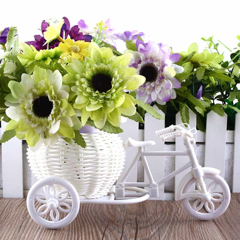 Горшок велосипед для цветов