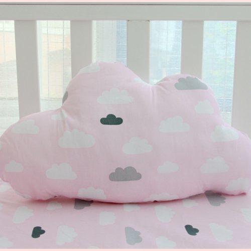 Декоративная подушка для детской комнаты в кроватку – облако, кит, капля