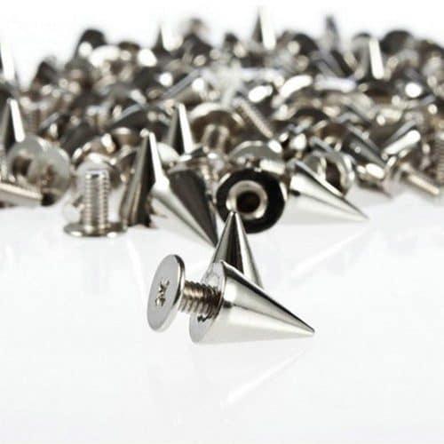 Декоративные металлические шипы заклепки для одежды в наборе