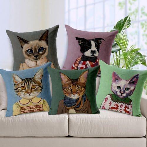 Декоративные наволочки на диванные подушки 45х45 см