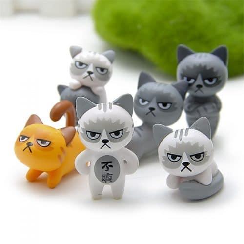 Декоративные пластиковые статуэтки-фигурки котики для интерьера