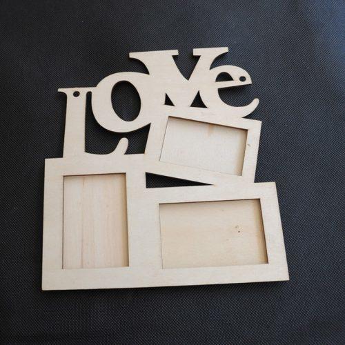 Деревянная фоторамка коллаж love для нескольких фотографий на стену для творчества