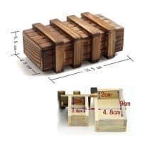 Деревянная шкатулка тайник – развивающая головоломка для детей и взрослых