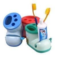 Детский держатель для зубных щеток и зубной пасты с дозатором