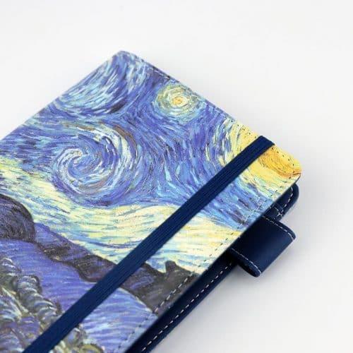 Дизайнерский кожаный датированный ежедневник A6 на 2017 год (Ван Гог, Клод Моне)