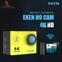 Экшн камера Eken H9/H9R Ultra HD 4К 2.0″ 1080 P водонепроницаемая и аксессуары