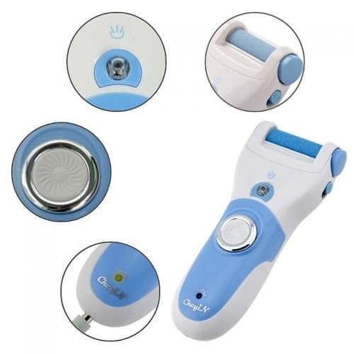 Электрическая роликовая пилка для ног, пяток, удаления огрубевшей кожи стоп
