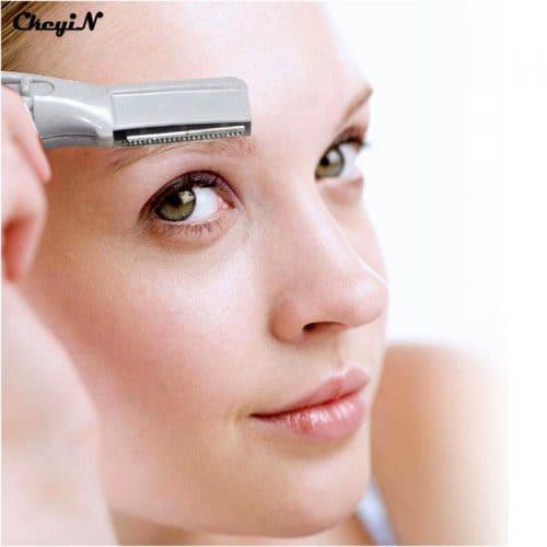 Электрический триммер для женщин для удаления волос, для зоны бикини, для бровей