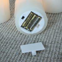 Электронные светодиодные LED свечи с живым пламенем на батарейках с пультом управления