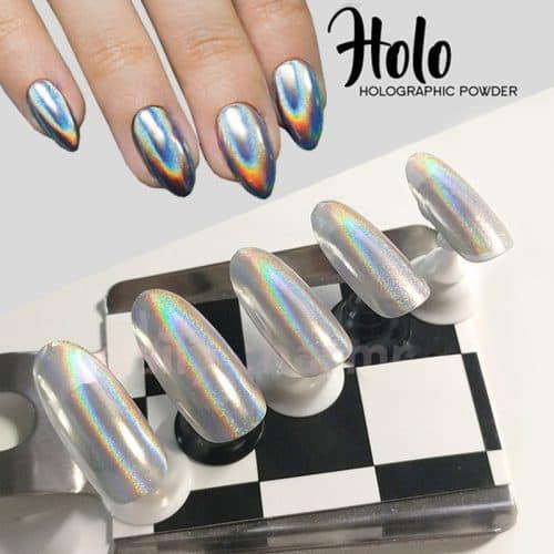 Голографический пигмент втирка призма мираж блестки для дизайна ногтей