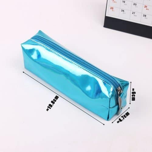 Голографический блестящий школьный пенал с зеркальной поверхностью металлик для карандашей