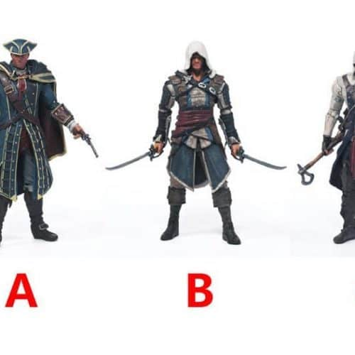 Коллекционные фигурки Assasin's Creed – Connor, Edward Kenway, Haytham Kenway