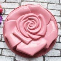 Круглая силиконовая форма для выпечки в духовке тортов, пирогов, хлеба в форме розы