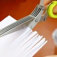 Кухонные ножницы с 5 лезвиями для быстрой нарезки и измельчения зелени