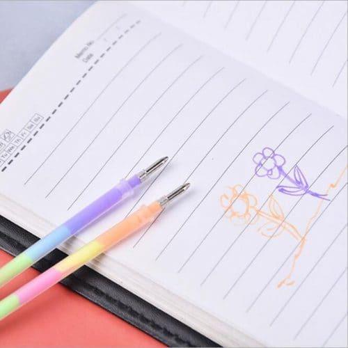 Люминесцентные цветные стержни для гелевой ручки 0.7 мм в наборе