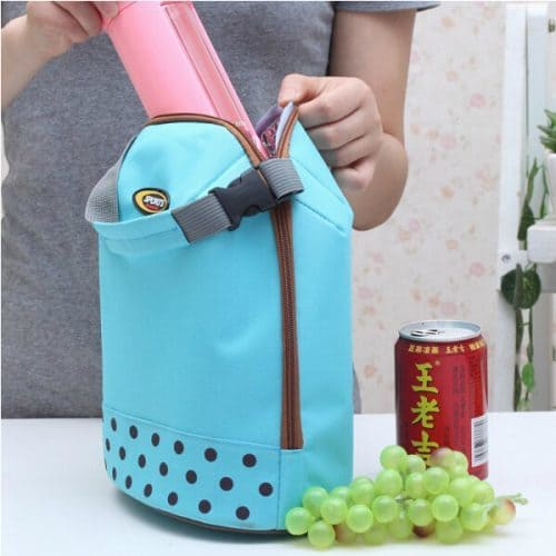 Маленькая мини термосумка холодильник для еды, обедов, ланча, детских бутылочек