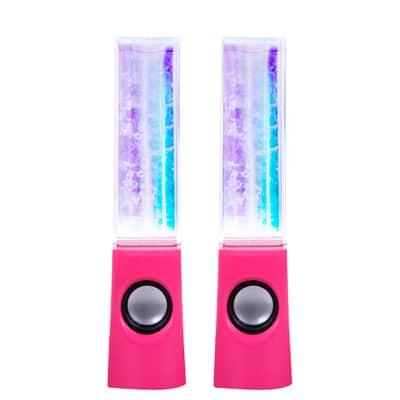 Маленькие светящиеся колонки с водным эквалайзером для компьютера и телефона