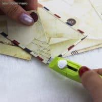 Маленький канцелярский нож для резки бумаги (нержавеющая сталь)