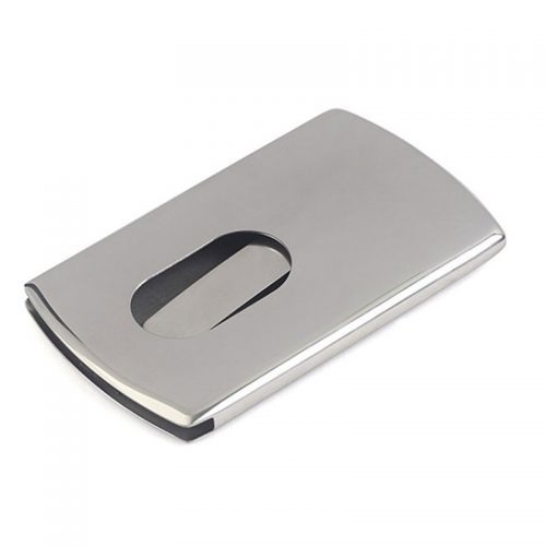 Металлическая карманная мужская/женская визитница-кредитница с выдвижным механизмом для визиток и кредитных карт