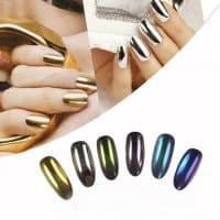 Металлический хромовый пигмент для дизайна ногтей для зеркального маникюра