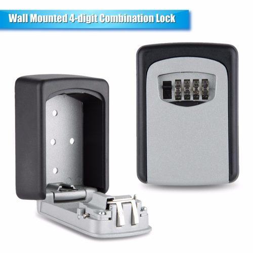 Металлический настенный мини сейф для дома с кодовым замком для ключей, денег