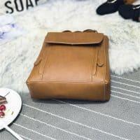 Модная строгая квадратная женская сумка-рюкзак для девушек