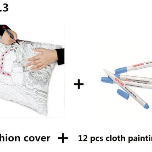 Набор для творчества подушка раскраска с маркерами для детей