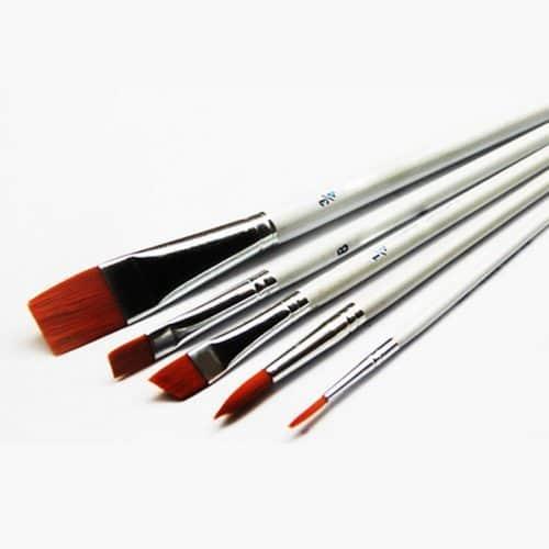 Набор художественных плоских кистей для живописи, для рисования красками, акварелью, маслом