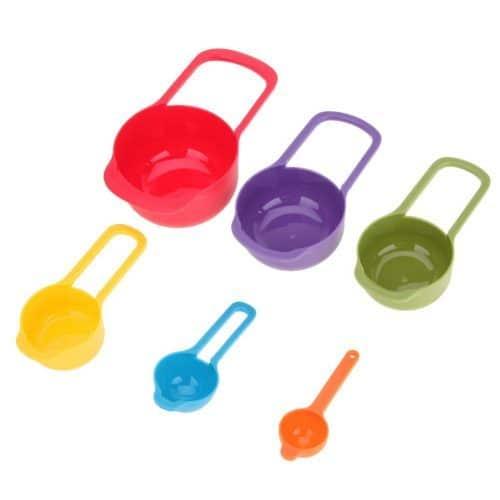 Набор мерных пластиковых ложек для кухни – 6 шт.